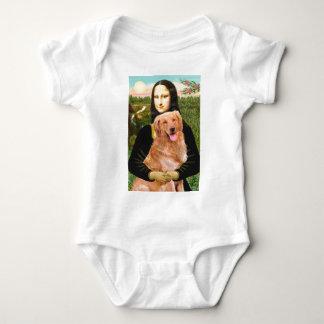 Golden Retriever 2 - Mona Lisa Baby Bodysuit