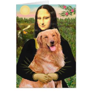 Golden Retriever 2 - Mona Lisa Card