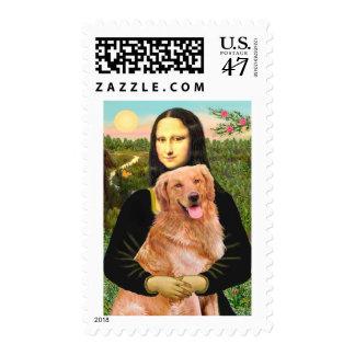 Golden Retriever 2 - Mona Lisa Postage