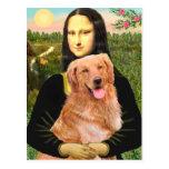 Golden retriever 2 - Mona Lisa Postal