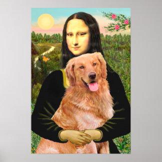 Golden Retriever 2 - Mona Lisa Poster