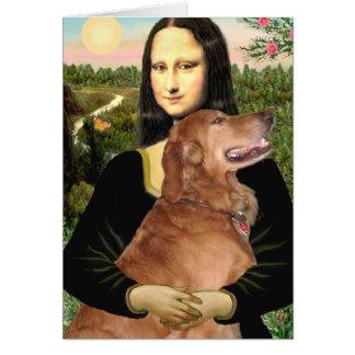 Golden Retriever 3 - Mona Lisa Card