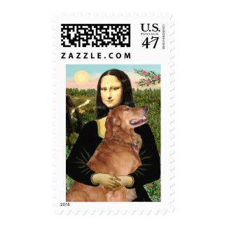 Golden Retriever 3 - Mona Lisa Stamp
