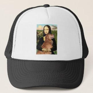 Golden Retriever 3 - Mona Lisa Trucker Hat