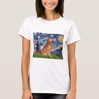Golden Retriever 3 - Starry Night T-Shirt