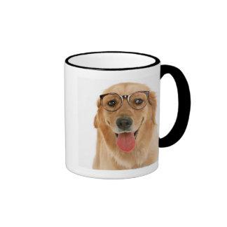 Golden retriever 3 tazas de café