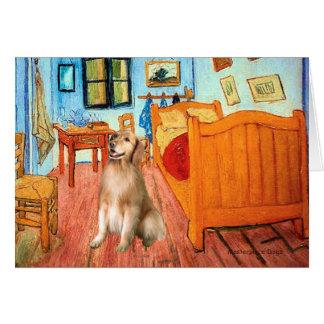 Golden Retriever 5 - Room at Arles Card