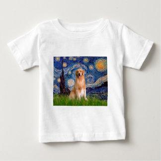 Golden Retriever 8 - Starry Night Baby T-Shirt