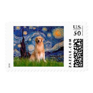 Golden Retriever 8 - Starry Night Postage