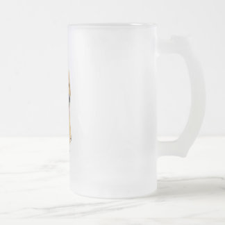 Golden Retriever 9K011D-08 Frosted Glass Beer Mug
