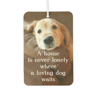 Golden Retriever A House Is Never Lonely Air Freshener
