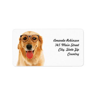 Golden Retriever Address Label