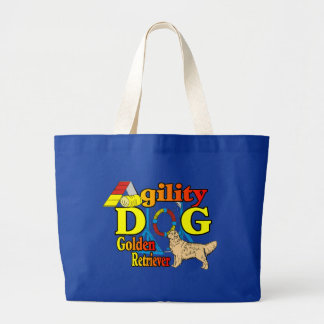 Golden Retriever Agility Gifts Large Tote Bag