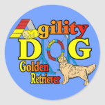 Golden Retriever Agility Gifts Stickers