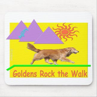 Golden Retriever Agility 'Rock' Mousepad