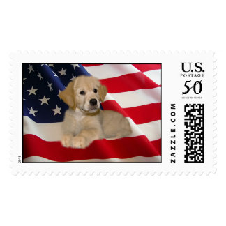 Golden Retriever All American Postage