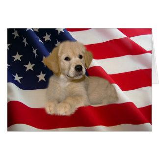 Golden Retriever All American Puppy Card