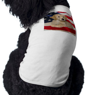 Golden Retriever All American Puppy Dog T-Shirt