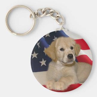 Golden Retriever All American Puppy Keychain