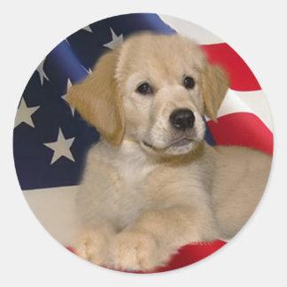 Golden Retriever All American Puppy Sticker