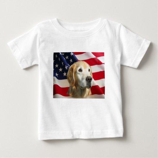 Golden Retriever All American Toddler Shirt