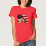 Golden Retriever American Flag T-Shirt
