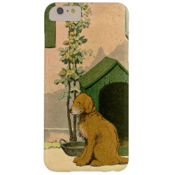Golden Retriever and Dog House Barely There iPhone 6 Plus Case