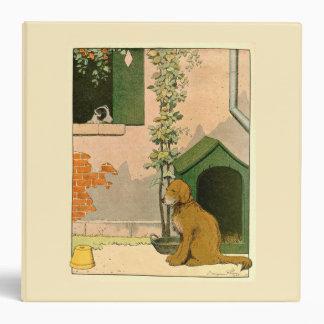 Golden Retriever and Dog House Vinyl Binder