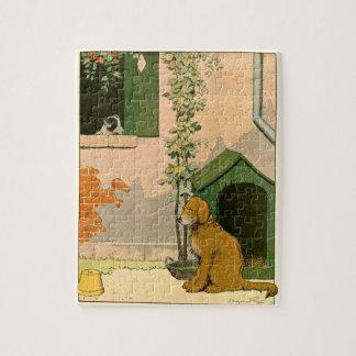Golden Retriever and Dog House Jigsaw Puzzles