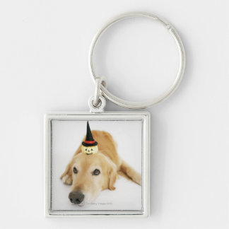 Golden retriever and ornament keychain