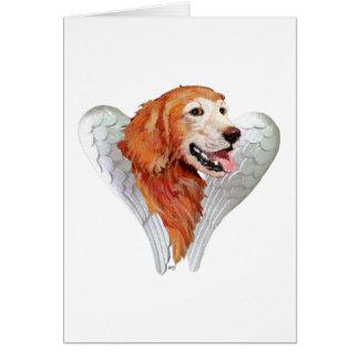 Golden Retriever Angel Card