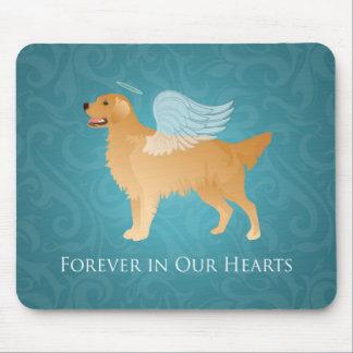 Golden Retriever Angel Dog - Pet Memorial Mouse Pad