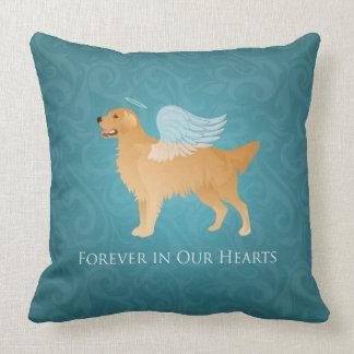 Golden Retriever Angel Dog - Pet Memorial Throw Pillow