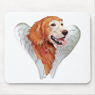Golden Retriever Angel Mouse Pad