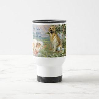 Golden Retriever Angel Travel Mug