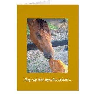 Golden Retriever Anniversary Card, Opposites Greeting Card