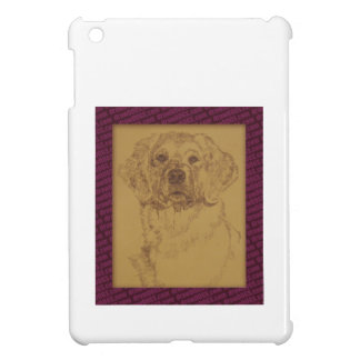 Golden Retriever art drawn from only the words iPad Mini Cases
