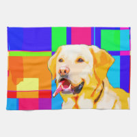 Golden Retriever Art Hand Towel
