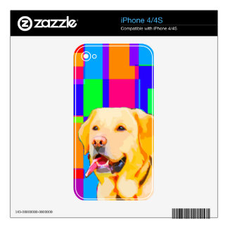 Golden Retriever Art iPhone 4 Decals