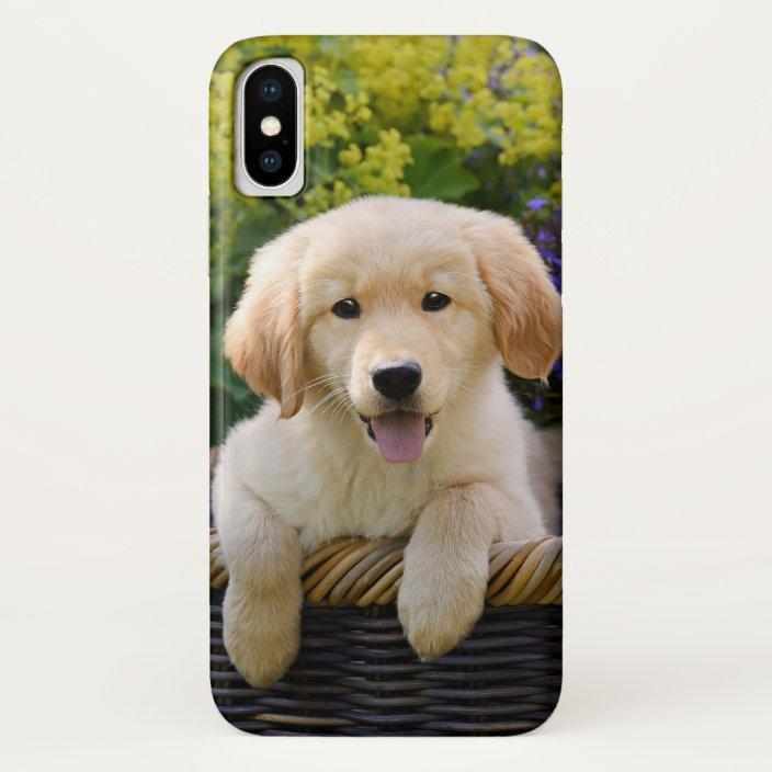 Golden Retriever Baby Dog Puppy Funny Pet Photo Case Mate Iphone Case Zazzle Com