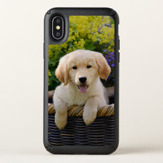 Golden Retriever Baby Dog Puppy Funny Pet Photo - Speck iPhone X Case