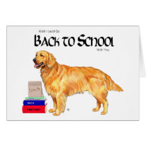 Golden Retriever Back to School Card