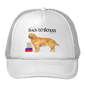 Golden Retriever Back to School Mesh Hat