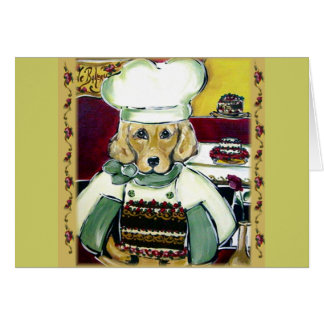 Golden Retriever Baker Cards