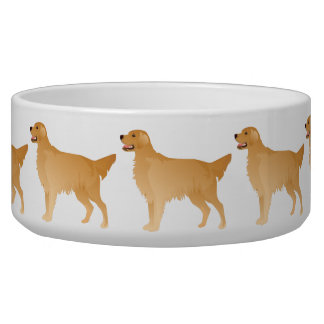 Golden Retriever Basic Breed Design Bowl