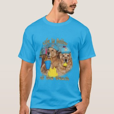 Beach Themed Golden Retriever Beach Babies T-Shirt