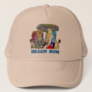 Golden Retriever Beach Bum Trucker Hat