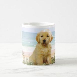 Golden Retriever Beach Mug