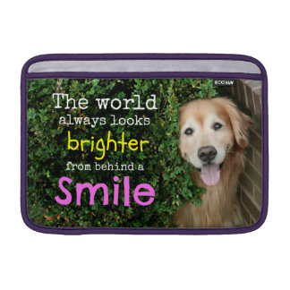 Golden Retriever Behind A Smile Sleeve For MacBook Air