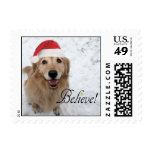 Golden Retriever Believe Christmas Stamp